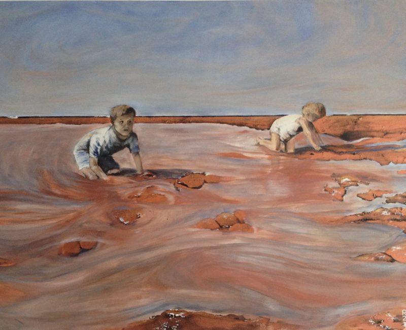 Kinderen op 't strand